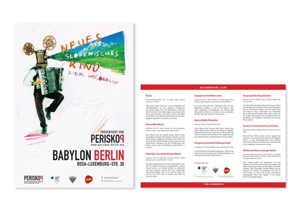 Promocijski material za filmski festival NEUES SLOWENISCHES KINO