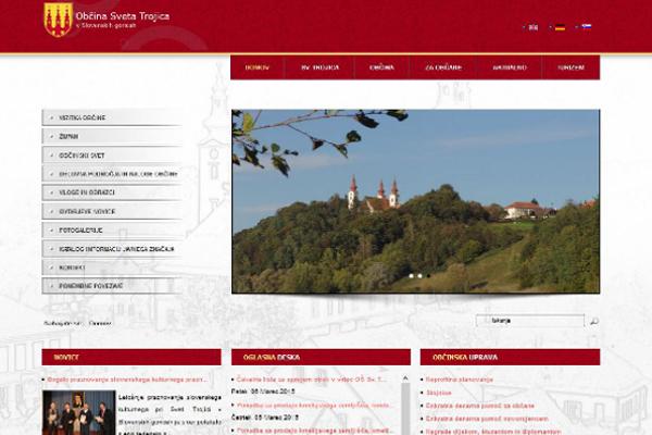 Spletna stran in Facebook stran Občine Sveta Trojica