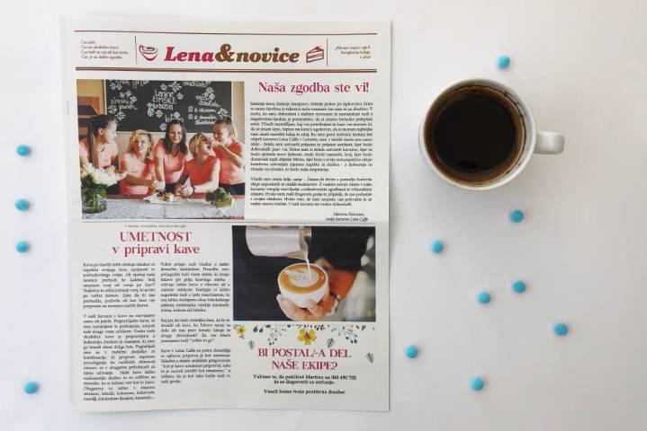 Kavarniški časopis Lena Caffe