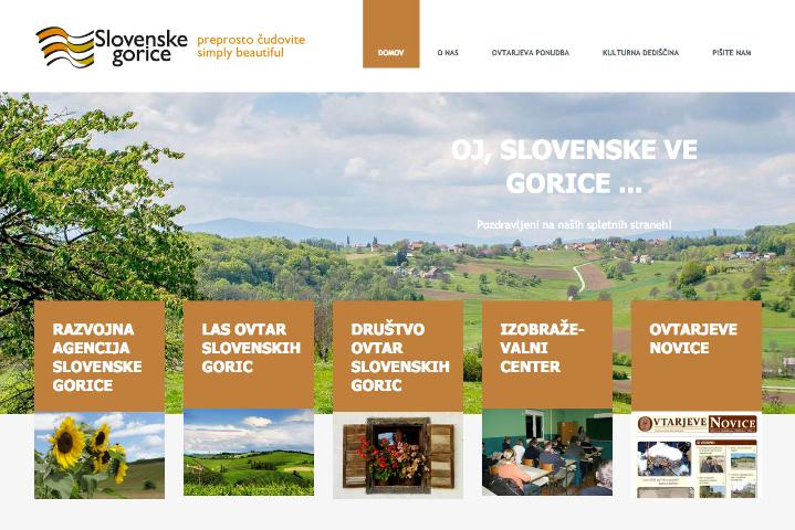 Spletna stran Razvojne agencije Slovenske gorice